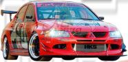 Mitsubishi Evo 8 AP Style Front Bumper, Front Canards, Front Fender & Side Skirt