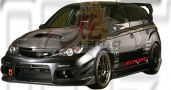 Subaru Version 10 2008 VRS Front Bumper, Front Canards & Side Skirt