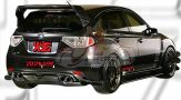 Subaru Version 10 2008 VRS Rear Diffuser & Rear Spoiler