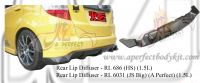 Honda Fit 2008 HS Rear Diffuser