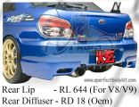 Subaru Version 9 2006 Ing Rear Lip & Oem Diffuser