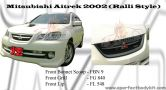Mitsubishi Airtrek 2002 Ralli Style Front Bonnet Scoop, Front Grill & Front Lip