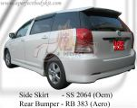 Toyota Wish 2006 Oem Side Skirt & Aero Style Rear Bumper