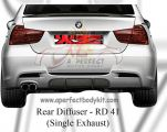 BMW E90 M T Style Rear Diffuser (Single Exhaust)