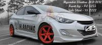 Hyundai Elantra MD 2011 Lux Style Front Lip & Side Skirt