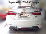 Toyota Altis 2014 R Design Rear Lip