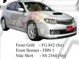 Subaru 2008 Version 10 STI Front Grill, Front Bonnet & Side Skirt