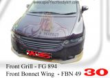 Honda Odyssey 2004 RB1 Front Grill & Front Bonnet Wing