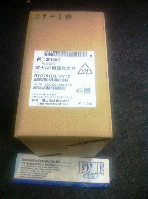 FUJI SERVO AMPLIFIER RYS751D3-VVT2 RYS451D3-VVT2 MALAYSIA SINGAPORE INDONESIA