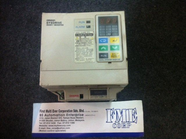 OMRON SYSDRIVE 3G3EV INVERTER 400V CLASS 3PH 1.1KW 1.5KW 2.2KW 3.7KW MALAYSIA SINGAPORE INDONESIA