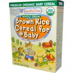 Healthy Times Organic Whole Grain Brown Rice Cereal for Baby (USDA Certified Organic)