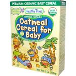 Healthy Times Organic Whole Grain Oatmeal Cereal for Baby (USDA Certified Organic)