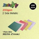 250gsm Metallic Card - Cream