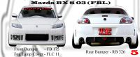 Mazda RX8 2003-2008 FBL Style Bumperkits