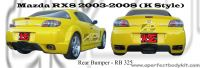 Mazda RX8 2003-2008 K Style Rear Bumper