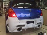 suzuki swift sport bumper rear tm square frp material