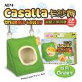 AE74 Alice ''Casalla'' triangle hollow for hamster - Green