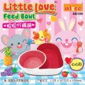 AE159 Alice Little Love Heart-Shaped Feed Bowl for Rabbit, Chinchilla and Guinea Pig