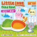 AE160 Alice Little Love Carrot-Shaped Feed Bowl for Rabbit, Chinchilla and Guinea Pig