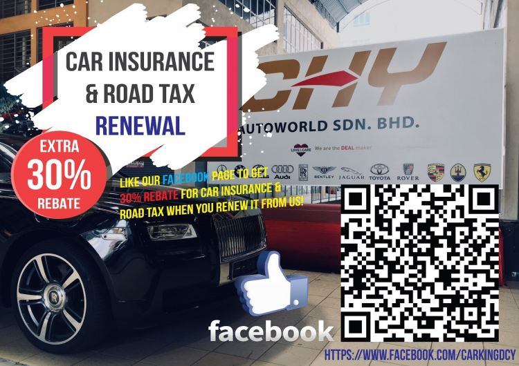 30% Cash Rebate On Car Insurance & Road Tax Renewal