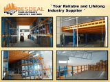 Mezzanine floor supported by racking system