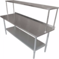 Stainless Steel Work Table w. Over Shelf