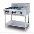 Combination Open Burner Griddle Free Standing
