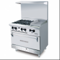 Combination Open Burner Griddle With Oven