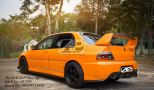 Mitsubishi Evo 9 Dam Style Side V Lip & Rear V Lip