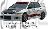 Mitsubishi Evo 9 CS Style Front Fender & Side Skirt