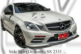 Mercedes E Class Coupe W207 Side Skirt Diffuser