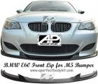 BMW 5 Series E60 Front Lip for M5 Front Bumper