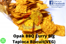 Opak BBQ Curry Big Tapioca Biscuit(Veg)
