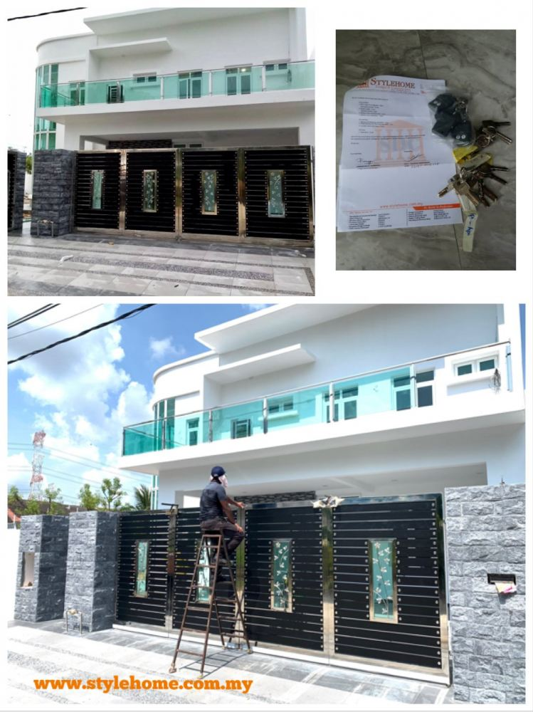 Stylehome newly build Semi D 2.5 storey with custom Curve Design. Handover key. 05/10/2020.