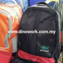 Backpack with logo embroidery