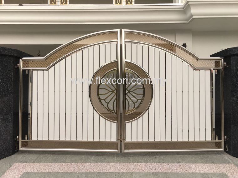 Swing Gate With Gold Texture