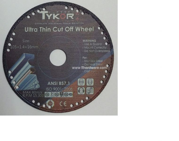 Tykor Metal Cut Diamond Disc 4""