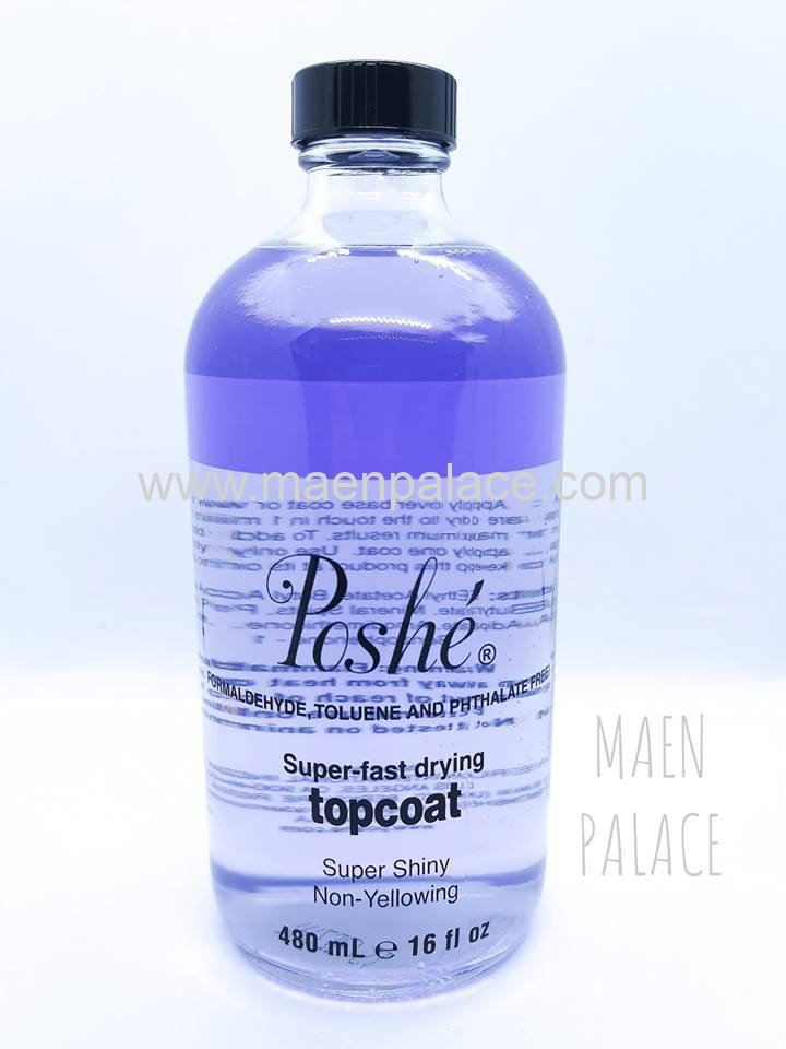Poshe Fast Drying Top Coat - 480ml/16oz