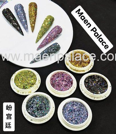 New Series Shining glitter flakes set 光彩闪粉片套装