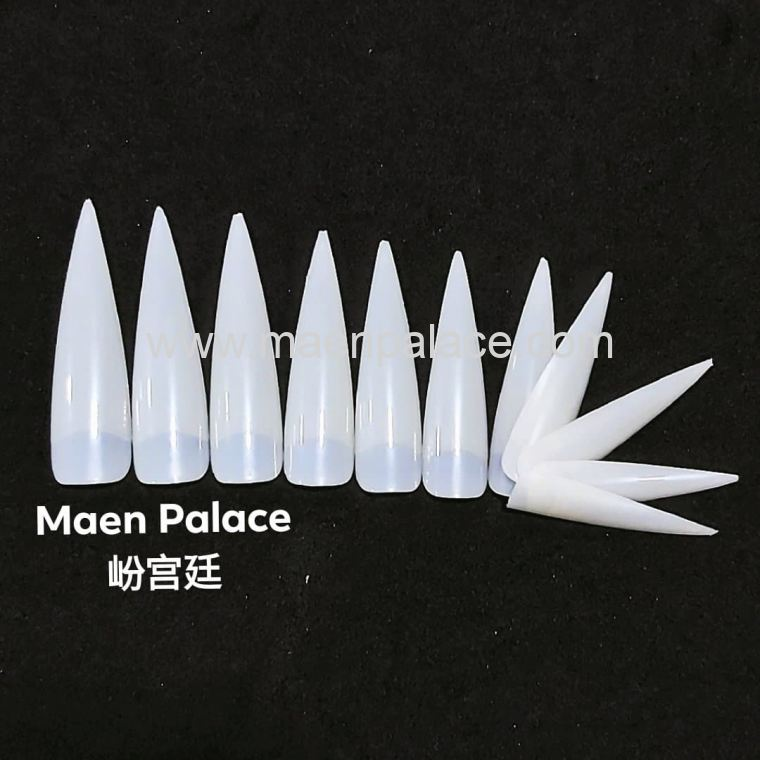 Natural Long Almond Shape Nail Tips 1pack 36pcs 尖长型自然色