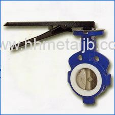Wafer Teflon Seat Type Lever Operated