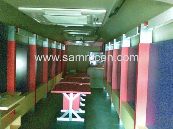 Bomba Mobile Display Bus Commercial Units Interior Design