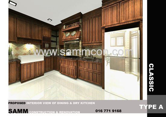 country style design for kitchen . johor bahru