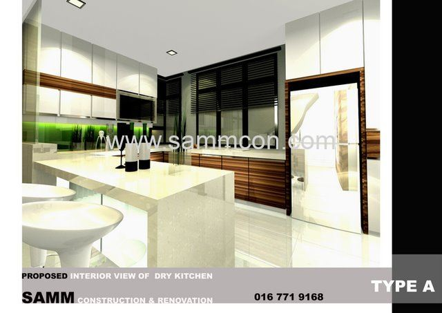 Taman molek ponderosa house jb interior design for A d interior decoration contractor