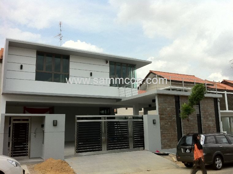 impian height. impian emas. carporch extension. balcony