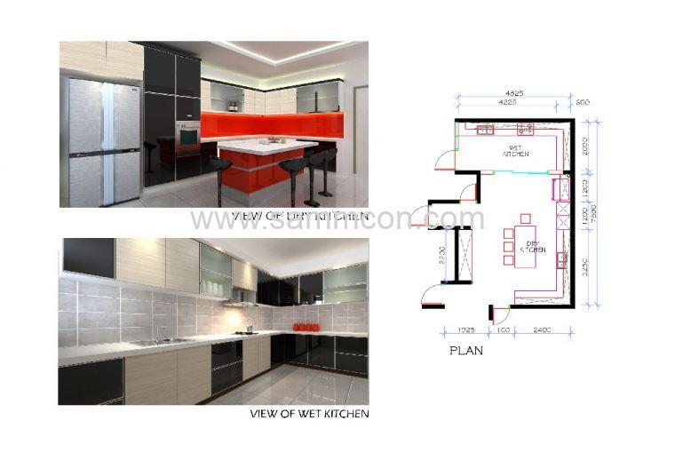 wet and dry kitchen design. Wet Kitchen  Dry kitchen Island Counter Interior Design