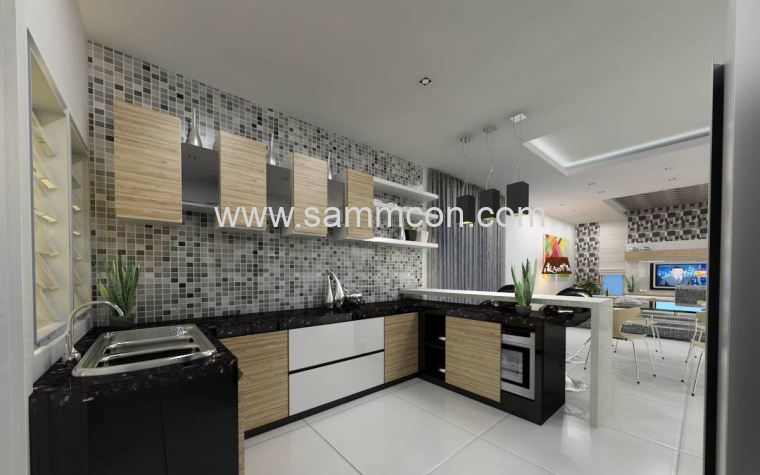 Sri Austin Hill Dry Kitchen Design Cabinet Work
