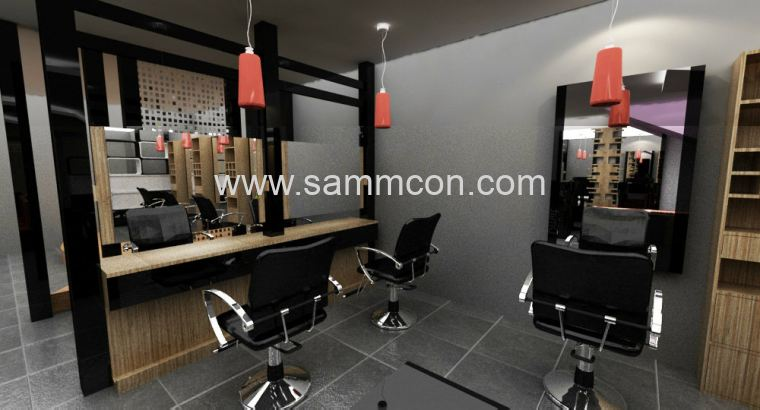 saloon design and renovation . renovation of hair saloon joh