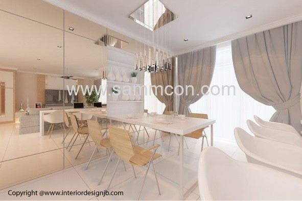 Design of dining hall (interior design) - Taman Pelangi Inda