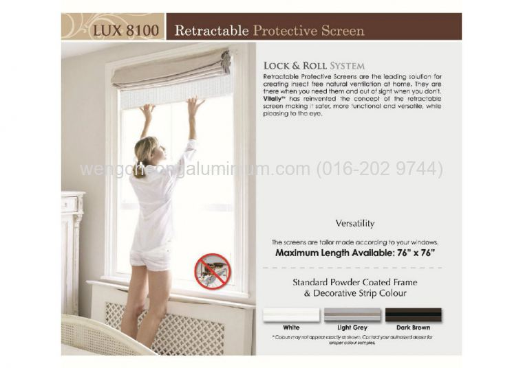 Vitally Aluminium Insect Screen ( LUX 8100 )